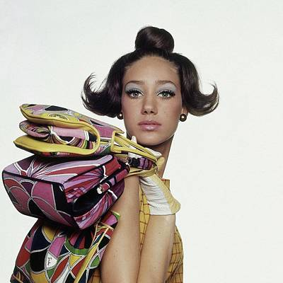 Photograph - Portrait Of Marisa Berenson by Bert Stern