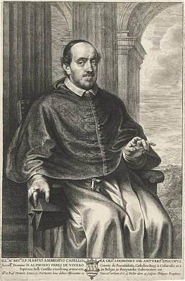 Marius Drawing - Portrait Of Marius Ambrosius Capello, Philip Fruytiers by Philip Fruytiers