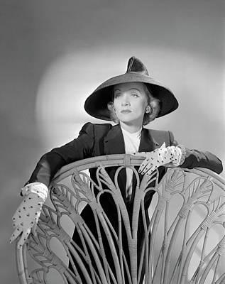 Portrait Of Marlene Dietrich Art Print by Horst P. Horst