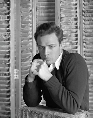Marlon Photograph - Portrait Of Marlon Brando by Serge Balkin
