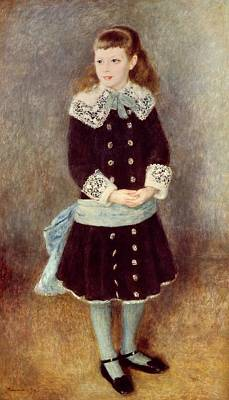 Silk Painting - Portrait Of Martha Berard by Pierre-Auguste Renoir