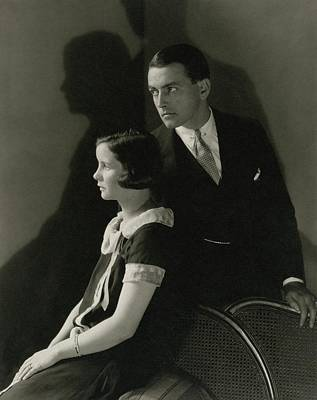 20-24 Years Photograph - Portrait Of Mary Hay And Richard Barthelmess by Edward Steichen