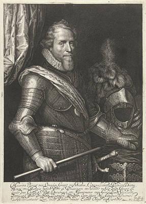 Portrait Of Maurits, Prince Of Orange Art Print by Willem Jacobsz. Delff And Philips Jacobsz Van Steenwegen