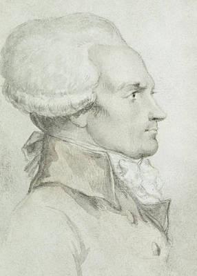 Moreau Painting - Portrait Of Maximilien De Robespierre by Jean Michel the Younger Moreau
