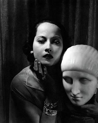 Studio Art Jewelry Photograph - Portrait Of Merle Oberon by Edward Steichen