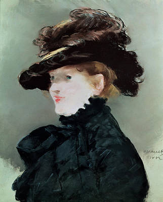 Photograph - Portrait Of Mery Laurent 1849-1900 1882 Pastel On Paper by Edouard Manet
