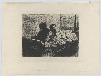 Portrait Of Meryon Sitting Up In Bed Art Print