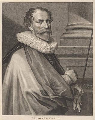 Portrait Of Michiel Jansz. Mierevelt Art Print by Willem Jacobsz. Delff And Anthony Van Dyck