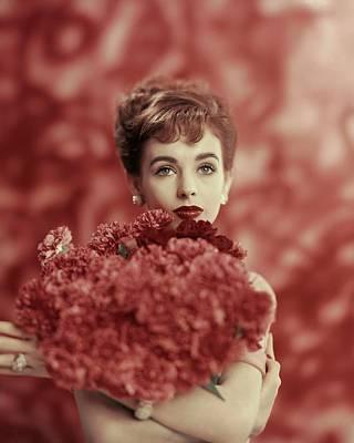 Bouquet Photograph - Portrait Of Millie Perkins by Karen Radkai