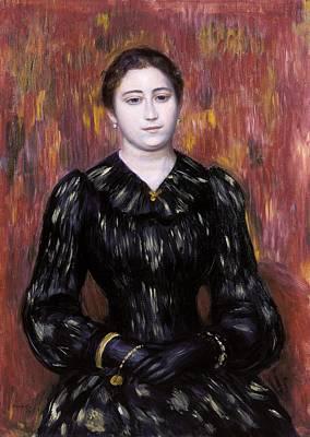 Jerusalem Painting - Portrait Of Mme. Paulin by Pierre-Auguste Renoir