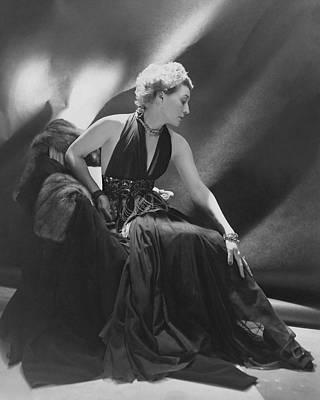 Photograph - Portrait Of Mona Von Bismarck by Cecil Beaton