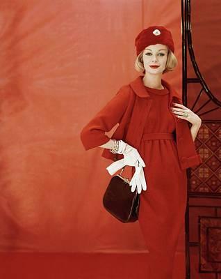 Photograph - Portrait Of Monique Chevalier by Henry Clarke