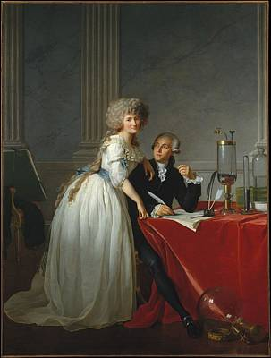 Portrait Of Monsieur Lavoisier And His Wife Print by MotionAge Designs