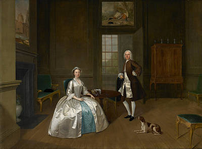 1743 Painting - Portrait Of Mr. And Mrs. Atherton by Celestial Images