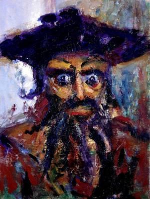 Blackbeard Painting - Portrait Of Mr. Beard by R W Goetting
