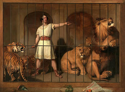 Cage Painting - Portrait Of Mr. Van Amburgh, As He Appeared by Litz Collection