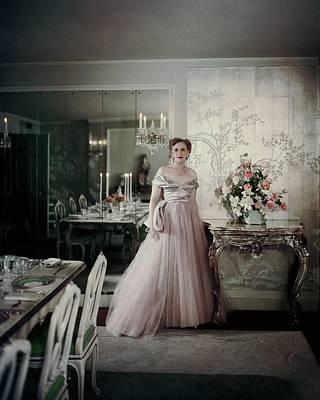 Photograph - Portrait Of Mrs. Adam Gimbel by John Rawlings