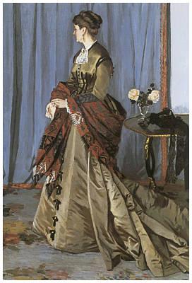 Portrait Of Mrs. Gaudibert Art Print by Claude Monet