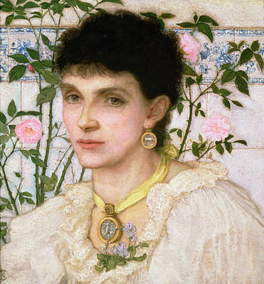 Choker Painting - Portrait Of Mrs George Henry Boughton by English School