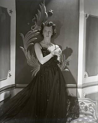 Photograph - Portrait Of Mrs. John Jacob Astor In A Ball Gown by Horst P. Horst