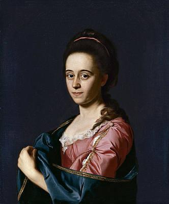 Portrait Of Mrs Joshua Henshaw II . Catherine Hill Art Print by John Singleton Copley