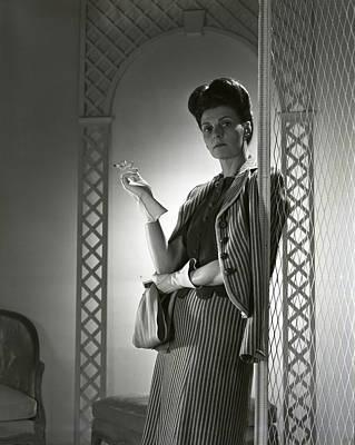 Updo Photograph - Portrait Of Mrs. Michael Arlen by Horst P. Horst