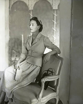 Photograph - Portrait Of Mrs. Paul Felix Warburg by Horst P. Horst