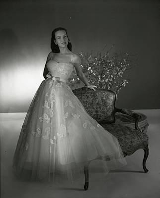 Applique Photograph - Portrait Of Mrs. William Woodward Jr by Horst P. Horst
