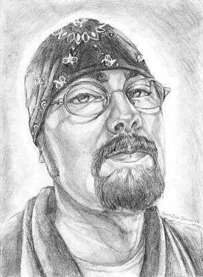 Drawing - Portrait Of My Husband by Shana Rowe Jackson