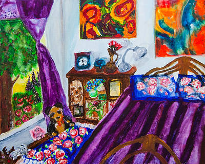 Portrait Of My Room At The Rivoli Art Print by Natasha R Three