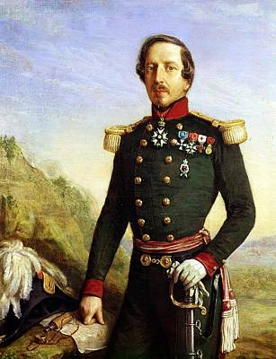 Portrait Of Napoleon IIi 1808-73 1852 Oil On Canvas Detail Art Print