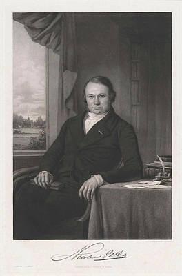 Dirk Drawing - Portrait Of Nicolaas Beets, Print Maker Dirk Jurriaan by Dirk Jurriaan Sluyter And Adrianus Johannes Ehnle And J.f. Brugman