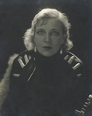 Earrings Photograph - Portrait Of Olga Baclanova by Edward Steichen