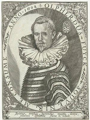 Portrait Of Olpherdus Fuyck Olfert Fuchs Art Print by Floris Balthasarsz. Van Berckenrode