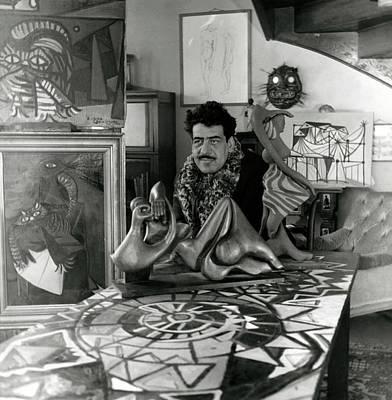 Surrealist Photograph - Portrait Of Oscar Dominguez by Horst P. Horst