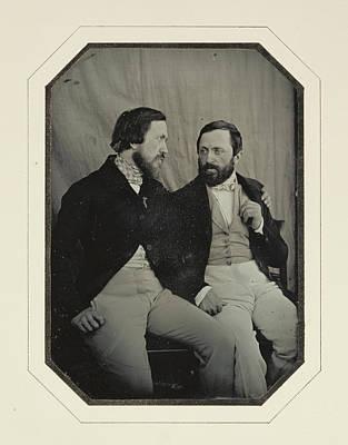 Portrait Of Paul And Hippolyte Flandrin F. Chabrol Art Print