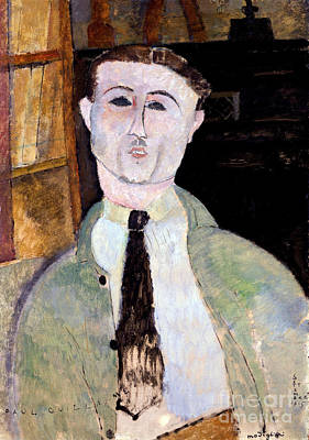 Portrait Of Paul Guillaume Art Print by Amedeo Modigliani