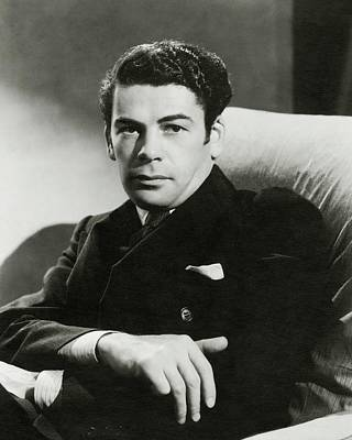 Film Industry Photograph - Portrait Of Paul Muni by Toni Von Horn