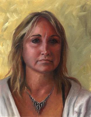 Portrait Of Paula Art Print by Terri  Meyer