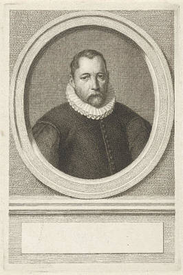 Choosing Drawing - Portrait Of Pieter Janszoon Kies, Jacobus Houbraken by Jacobus Houbraken And Cornelis Ketel