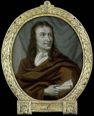 Portrait Of Pieter Verhoek, Poet And Marble Painter Art Print by Litz Collection