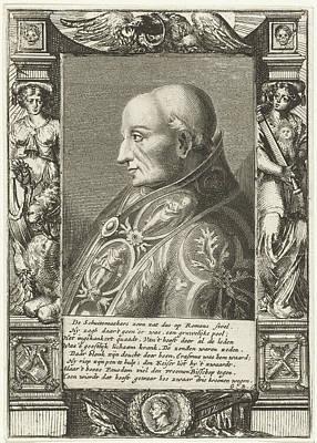 Portrait Of Pope Adrian Vi, Hendrik Bary Art Print