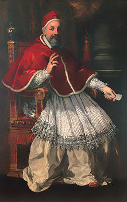 Christian Artwork Painting - Portrait Of Pope Urban Viii by Mountain Dreams