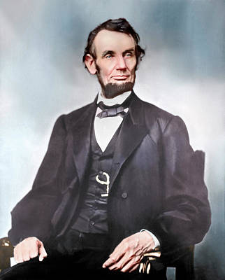 Politicians Royalty-Free and Rights-Managed Images - Portrait Of President Abraham Lincoln by Stocktrek Images
