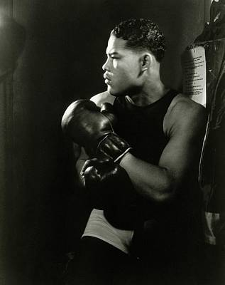 Portrait Of Professional Boxer Joe Louis Art Print by Lusha Nelson