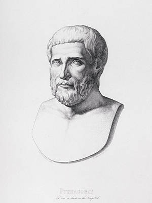 Portrait Of Pythagoras Art Print