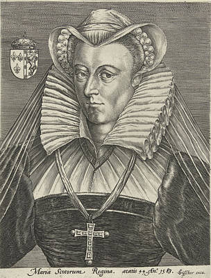 Queen Mary Drawing - Portrait Of Queen Mary I Stuart Of Scotland by Claes Jansz. Visscher Ii