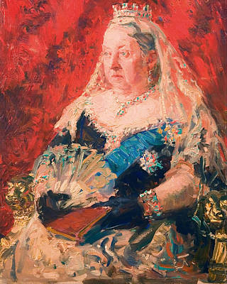 Crown Victoria Painting - Portrait Of Queen Victoria by Mountain Dreams