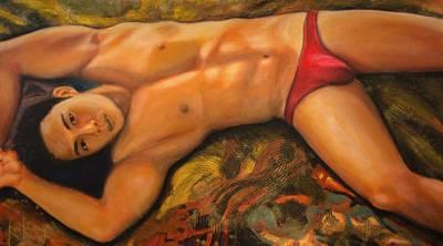 Painting - Portrait Of Ri Lee Mi by Ron Richard Baviello