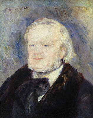 Operatic Painting - Portrait Of Richard Wagner by Pierre Auguste Renoir